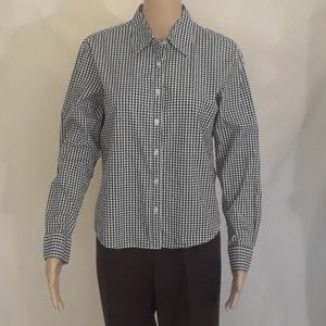 The Limited Black and White Gingham Shirt - Size M